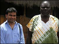 British psychiatrist Dr Raj Persaud with Joas Agengo