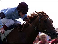 Petrushka wins the 2001 Yorkshire Oaks
