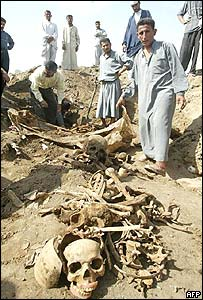 Skull found in mass grave near Babylon