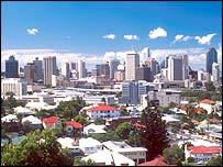 The Brisbane skyline