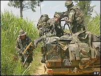 French troops near Bunia in DR Congo