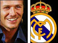 Beckham will be playing alongside Zidane, Figo, Ronaldo and Raul