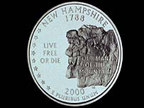 Old Man on a New Hampshire coin