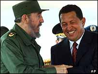 Fidel Castro and Hugo Chavez