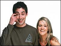 Radio 1 presenters Colin Murray and Edith Bowman