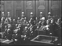 Nuremberg trials in Germany, 1945