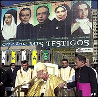 Pope at Madrid Mass
