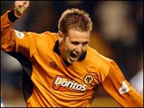 Wolves striker Kenny Miller
