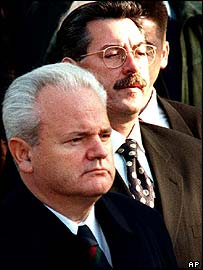 Milosevic (left) with Zoran Lilic