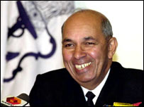 Admiral Madhvendra Singh, chief of the Indian naval staff