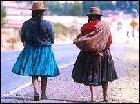 Peruvian women near Pisac