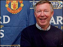 Six Alex Ferguson celebrates winning the Premiership title yet again