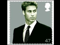 Prince William on a stamp to mark his 21st birthday