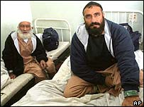 Former Guantanamo detainees Mohammed Hagi Fiz (left) and Jan Mohammed