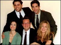 Matt Le Blanc (top left), David Schwimmer, Courteney Cox, Matt Perry and Jennifer Aniston