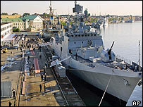 The Russian-built frigate INS Talwar