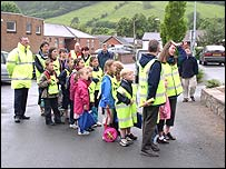 Children at Llanidloes