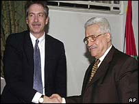 William Burns (l) and Abu Mazen