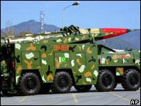 Pakistani Shaheen missile