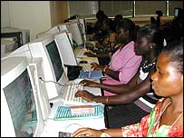 Workers at ACS in Ghana