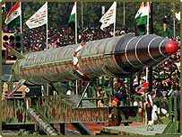 Indian long range Agni II missile