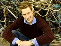 Prince William poses in an official photograph