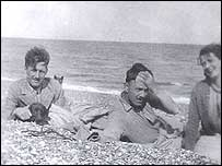 George Orwell and Eleanor Jacques and a friend on Southwold beach. Used by permission. From Orwell, The Life, by DJ Taylor