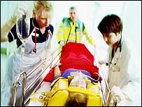 Casualty in hospital