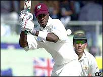 Omari Banks batting against Australia