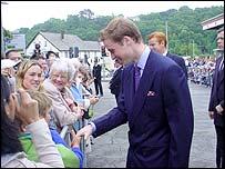 Prince William in Bangor