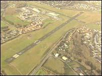 Plymouth Airport runway