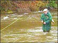 Fishing on the Teifi