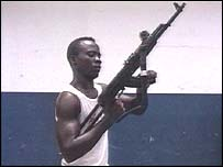Liberian rebel fighter