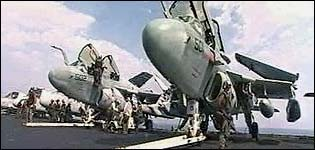 Planes on USS Abraham Lincoln