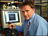 Professor David Howard at computer