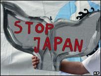 Whale protest, AP
