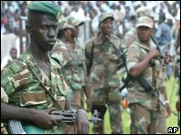 A Burundi government soldier