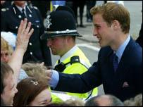 Prince William in Newport