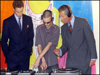 Prince William, DJ Floyd D and Prince Charles