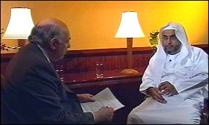 Tim Sebastian and Dr Abdual Rahman Al Matroudi