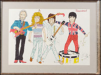 Painting of The Who
