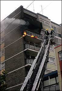 Fire in a Bristol tower block