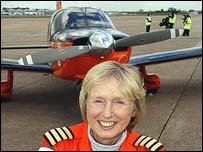 Polly Vacher and her Piper Dakota