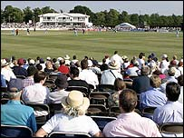 Fans watching Twenty20 cricket