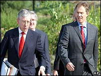Jack Straw and Tony Blair at the EU summit