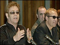 Sir Elton John (left) and Bernie Taupin (right)