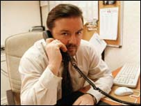 Ricky Gervais as David Brent, in the BBC's The Office