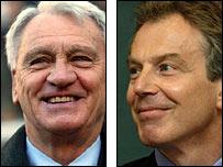 Sir Bobby Robson and Tony Blair