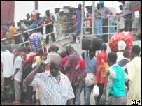 Ghanaians are repatriated from Monrovia