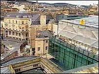 The Spa at Bath - covered in scaffolding